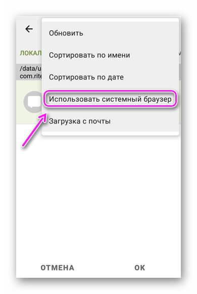 Системный браузер