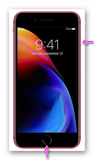 Скриншот на iPhone 8