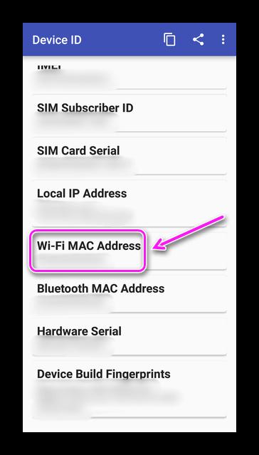 Wi-Fi MAC-Adress