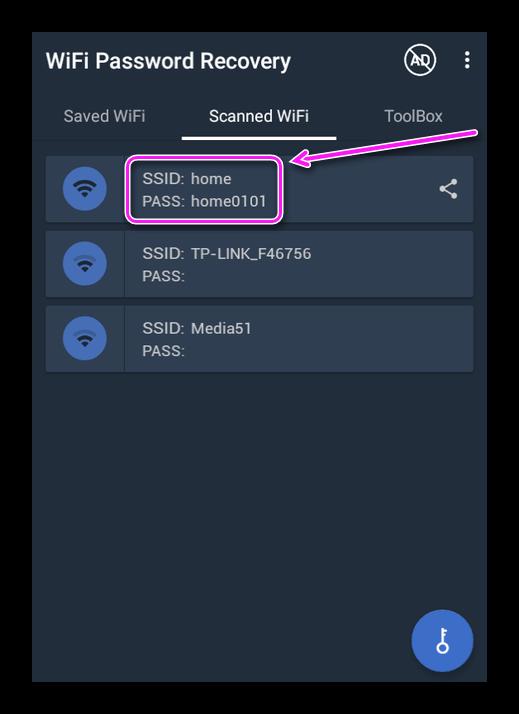 Секретная кобинация от Wi-Fi