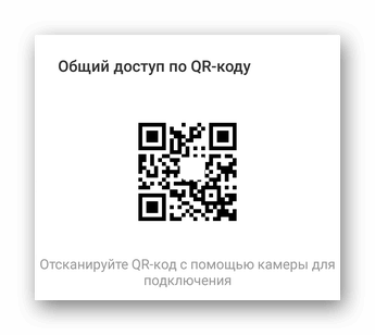 QR-код с информацией о подключении