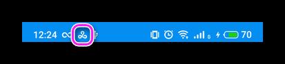Иконка активного ВПН-подключения