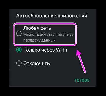 Любая сеть